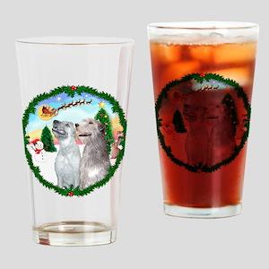 Take Off1/Irish Wolfhound pai Drinking Glass