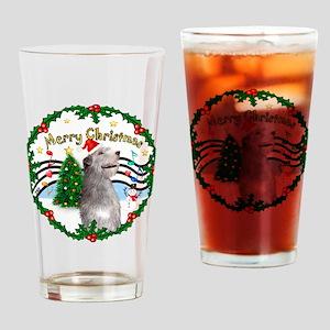 XmasMusic1/Irish Wolfhound Drinking Glass