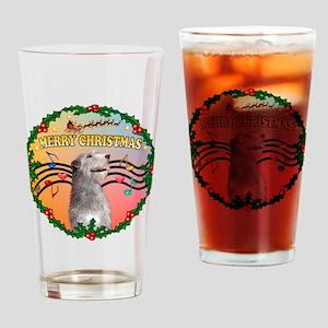 XmasMusic2/Irish Wolfhound Drinking Glass