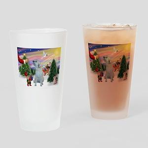 Treat for Santa's Irish Wolfh Drinking Glass