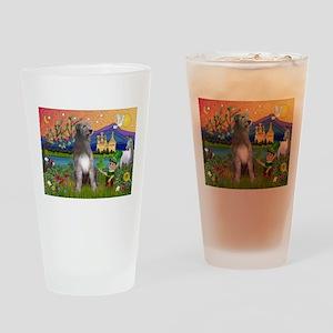 Irish Elf & Irish Wolfhound Drinking Glass