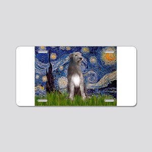 Starry/Irish Wolfhound Aluminum License Plate