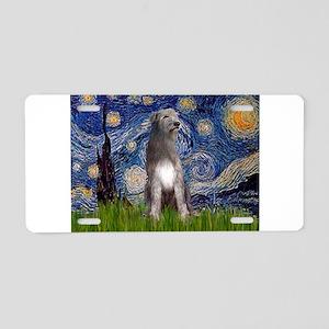 Starry/Irish Wolfhound Aluminum License Plate