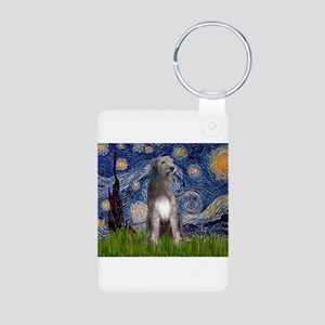 Starry/Irish Wolfhound Aluminum Photo Keychain