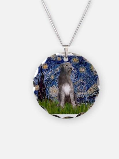 Starry/Irish Wolfhound Necklace