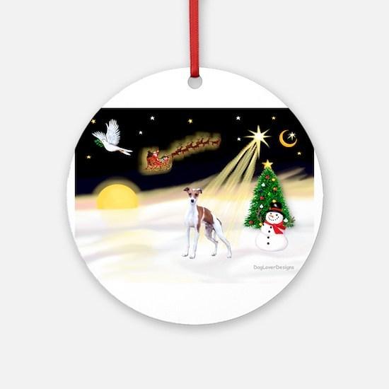 Night Flight/Ital Greyhound Ornament (Round)