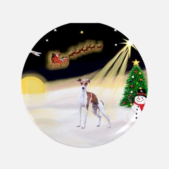 "Night Flight/Ital Greyhound 3.5"" Button"