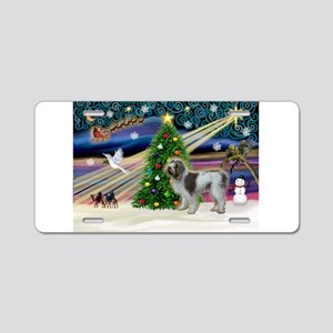 Xmas Magic & Spinone Aluminum License Plate