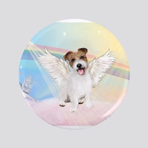 "Angel / Jack Russell Terrier 3.5"" Button"