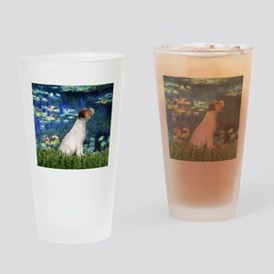 Jack Russell & Lilies Drinking Glass