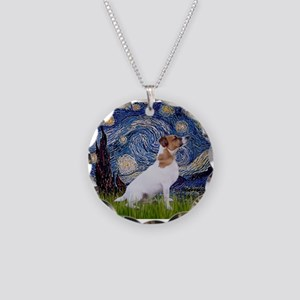 Starry Night / JRT Necklace Circle Charm