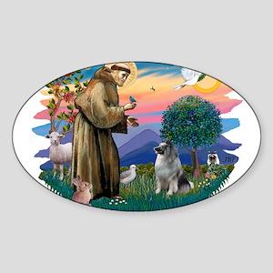 The Saint - Keeshond (#2) Sticker (Oval)