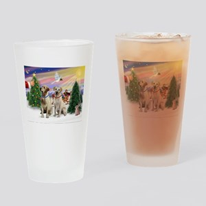 Treat for 2 Yellow Labs Drinking Glass