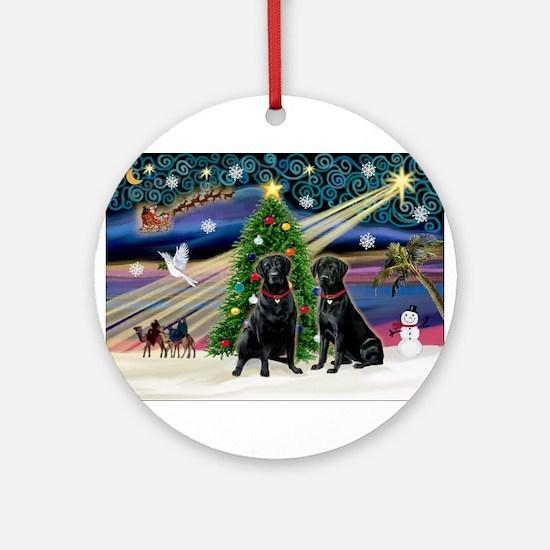 Xmas Magic & Lab PR Ornament (Round)