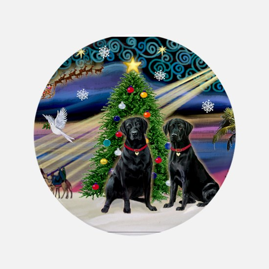 "Xmas Magic & Lab PR 3.5"" Button"