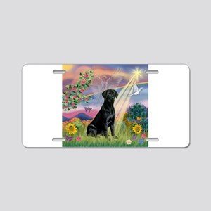 Cloud Angel & Black Lab Aluminum License Plate