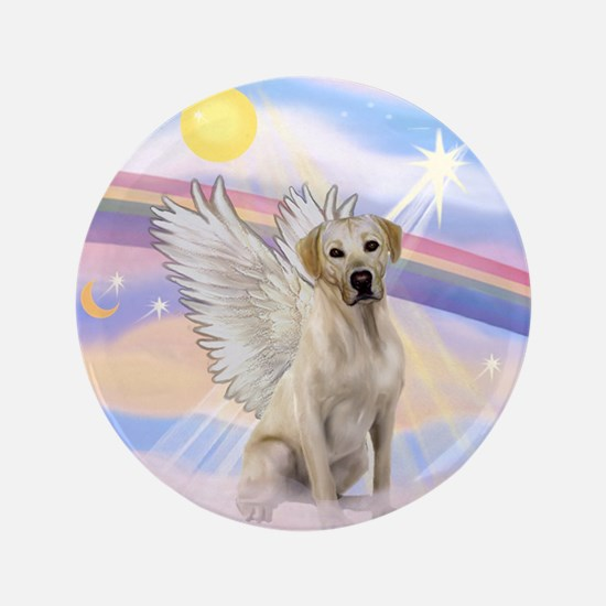 "Yellow Labrador Angel 3.5"" Button"
