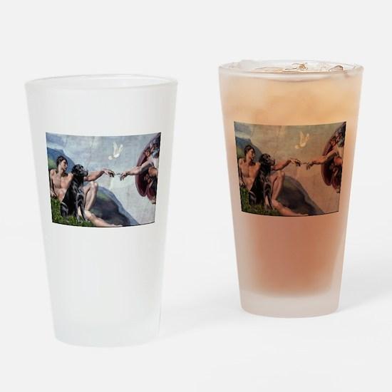 Creation/Black Lab Drinking Glass