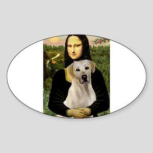 Mona & her Yellow Lab Sticker (Oval)