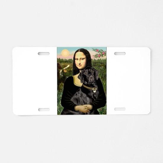Mona's Black Lab Aluminum License Plate