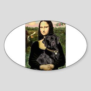 Mona's Black Lab Sticker (Oval)