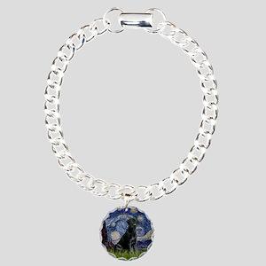 Starry Night Black Lab Charm Bracelet, One Charm