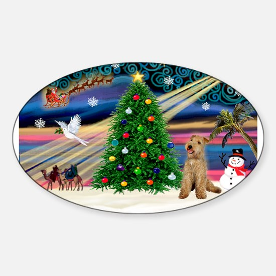 XmasMagic/Lakeland Ter Sticker (Oval)