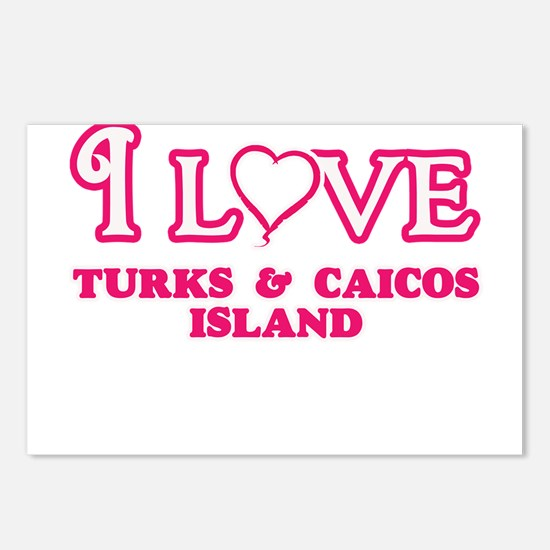 I love Turks & Caicos Postcards (Package of 8)