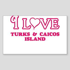 I love Turks & Caicos Island Sticker