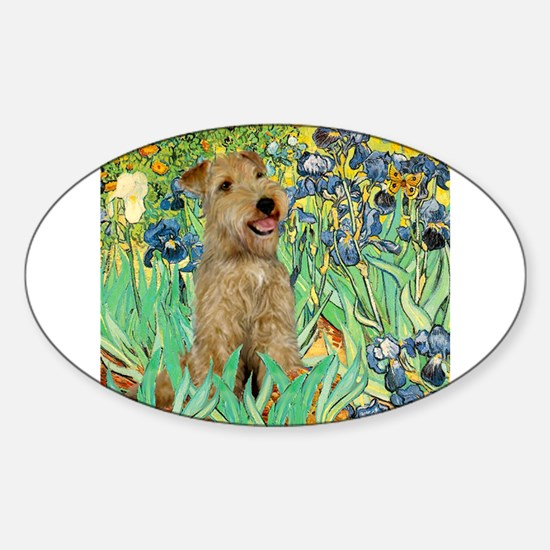 Lakeland T. & Irises Sticker (Oval)