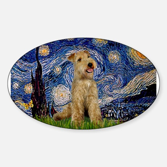 Starry Night Lakeland T. Sticker (Oval)