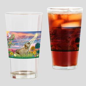 Cloud Angel / Lhasa Apso Drinking Glass