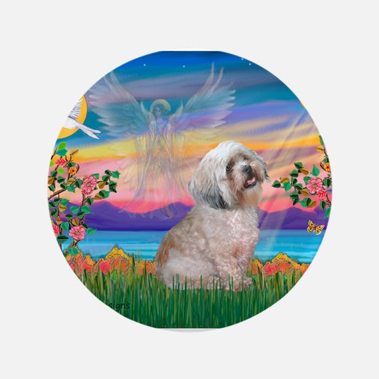 "Gardian / Lhasa Apso 3.5"" Button"
