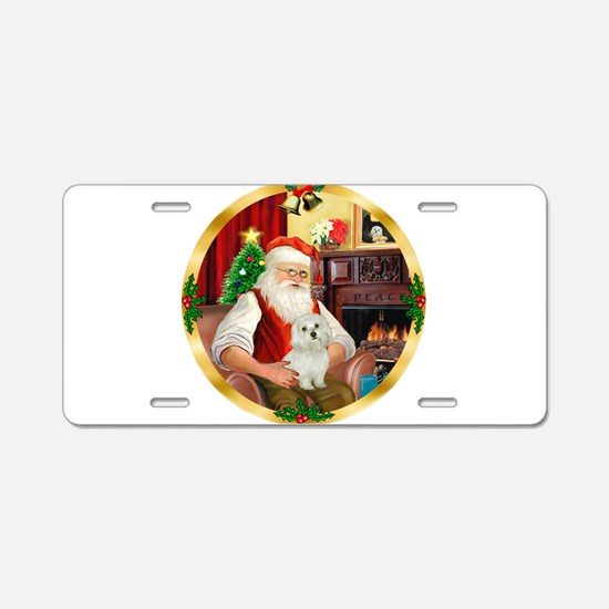 Santa's Maltese 11 Aluminum License Plate