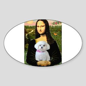 Mona's Maltese (R) Sticker (Oval)