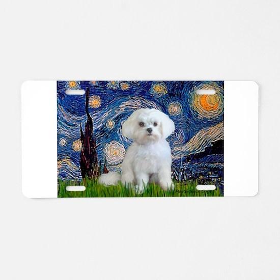 Starry / Maltese Aluminum License Plate