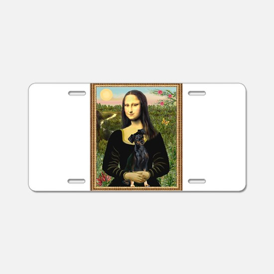 Cute Mona lisa Aluminum License Plate