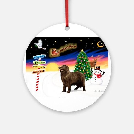 XmasSigns/Newfie Ornament (Round)
