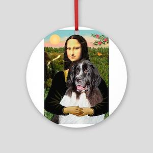 Mona Lisa's Landseer Ornament (Round)