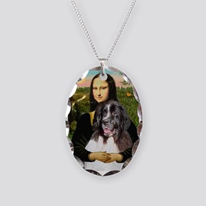Mona Lisa's Landseer Necklace Oval Charm