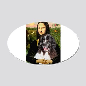 Mona Lisa's Landseer 22x14 Oval Wall Peel