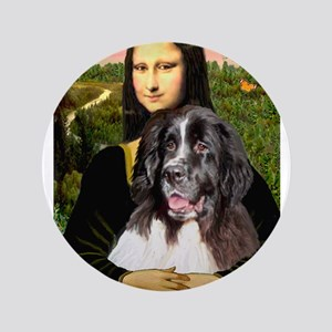 "Mona Lisa's Landseer 3.5"" Button"
