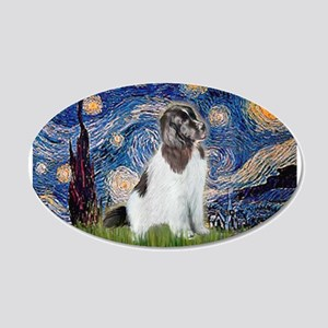 Starry Night / Landseer 22x14 Oval Wall Peel