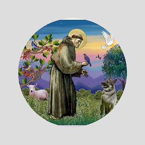 """St Francis / Nor Elk 3.5"""" Button"""