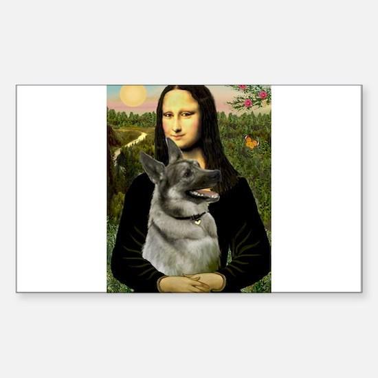 Mona & Norweign Elkhound Sticker (Rectangle)