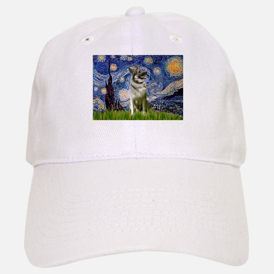 Starry Night Elkhound Baseball Baseball Cap