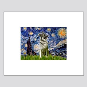 Starry Night Elkhound Small Poster