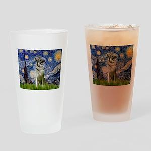 Starry Night Elkhound Drinking Glass