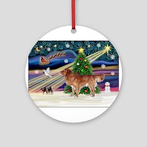 XmasMagic/Nova Scotia dog Ornament (Round)