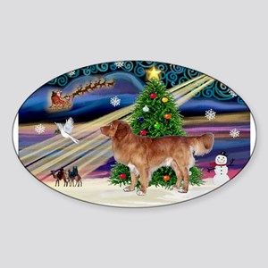 XmasMagic/Nova Scotia dog Sticker (Oval)